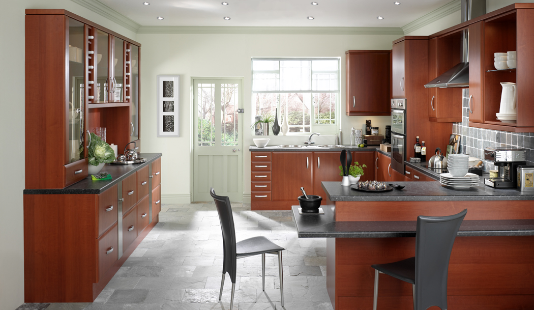 Devon kitchens kitchenworld exeter cologne cherry kitchen for Kitchen design exeter