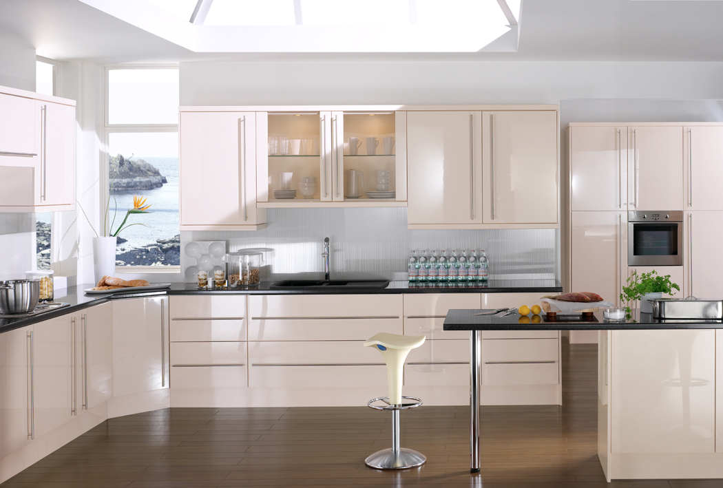 Devon Kitchens Kitchenworld Exeter Gloss Latte Kitchen