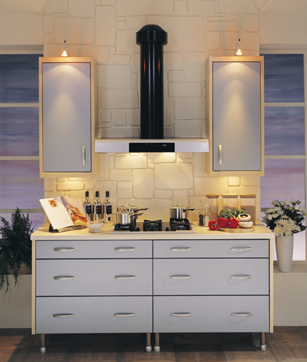 Devon kitchens kitchenworld exeter tempo titanium kitchen for Kitchen design exeter