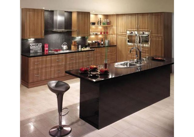 Devon kitchens kitchenworld exeter harvard walnut kitchen for Kitchen design exeter